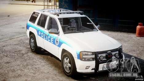 Chevrolet Trailblazer Police V1.5PD [ELS] para GTA 4 vista de volta