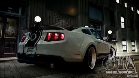 Shelby GT500 Super Snake NFS Edition para GTA 4 esquerda vista