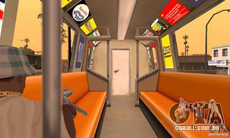 Liberty City Train DB para GTA San Andreas vista direita