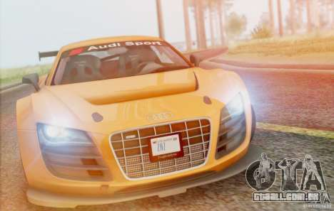 Audi R8 LMS GT3 para GTA San Andreas vista interior