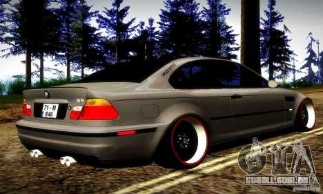 BMW M3 JDM Tuning para GTA San Andreas vista direita