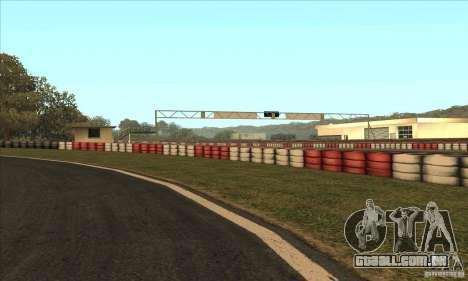 Faixa GOKART rota 2 para GTA San Andreas quinto tela