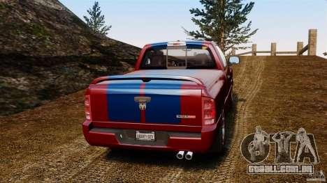 Dodge Ram SRT-10 2006 EPM para GTA 4 traseira esquerda vista