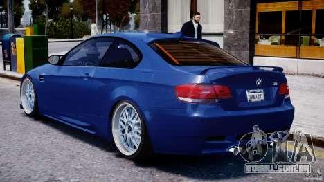 BMW M3 Hamann E92 para GTA 4 vista direita