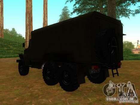 Ural 4320 Kung para GTA San Andreas traseira esquerda vista