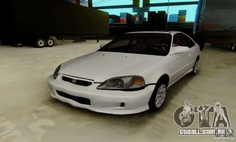 Honda Civic 1999 Si Coupe para GTA San Andreas vista inferior