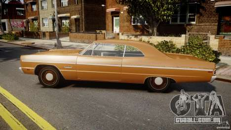 Plymouth Fury III Coupe 1969 para GTA 4 esquerda vista