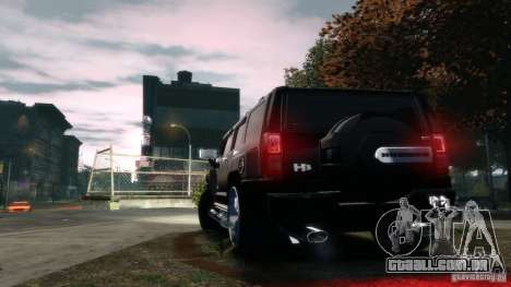 Hummer H3 2005 Chrome Final para GTA 4 traseira esquerda vista