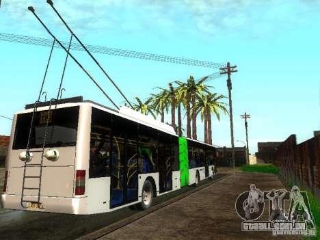 Trólebus LAZ E301 para GTA San Andreas vista direita