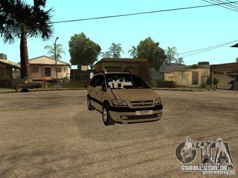 Opel Zafira para GTA San Andreas vista interior