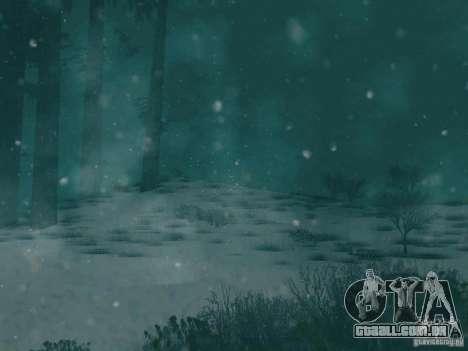 Queda de neve para GTA San Andreas terceira tela