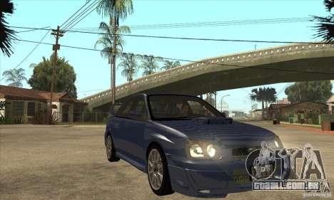 Subaru Impreza WRX STi - Stock para GTA San Andreas vista traseira