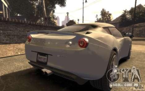 Lotus Evora 2009 para GTA 4 esquerda vista