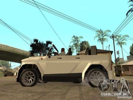 Uaz Cabriolet para GTA San Andreas esquerda vista