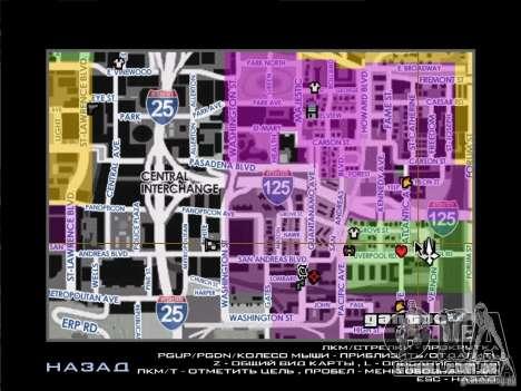 Mapa com nomes de ruas para GTA San Andreas