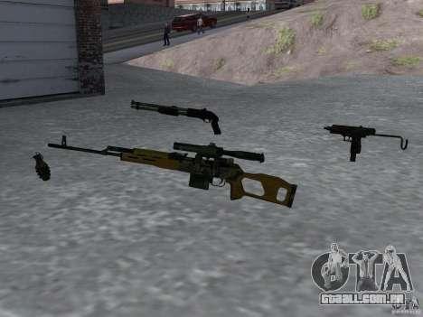 Pak versão doméstica armas 4 para GTA San Andreas