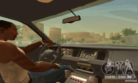Ford Crown Victoria Ohio Police para GTA San Andreas traseira esquerda vista