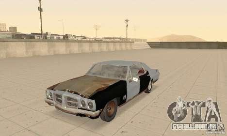 Pontiac LeMans 1970 Scrap Yard Edition para GTA San Andreas vista interior