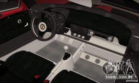 Lotus Elise 111s 2005 v1.0 para GTA San Andreas interior