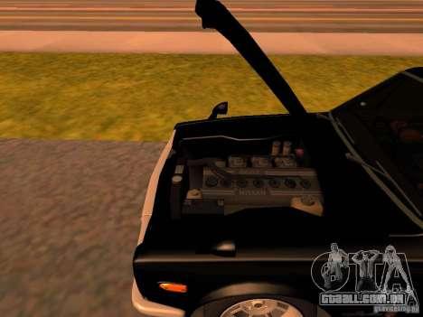 Nissan Skyline 2000GTR para GTA San Andreas vista interior