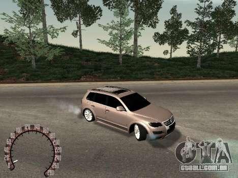 Volkswagen Touareg para GTA San Andreas vista direita