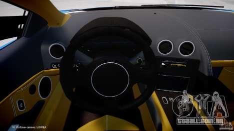 Lamborghini Reventon Polizia Italiana para GTA 4 vista de volta