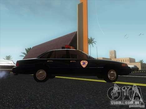 Ford Crown Victoria 1992 Detroit OCP para GTA San Andreas vista direita