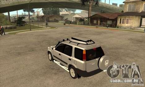 Honda CRV 1997 para GTA San Andreas traseira esquerda vista