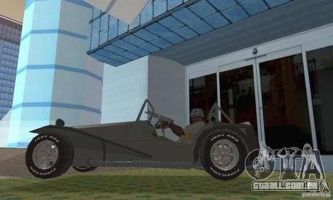 Lotus Seven para GTA San Andreas vista direita