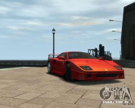 Ferrari F40 para GTA 4 esquerda vista