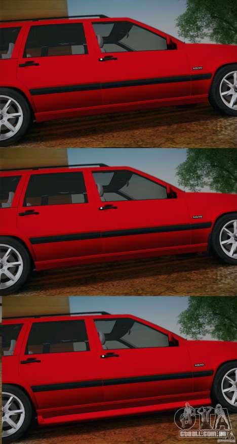 Volvo 850 Estate Turbo 1994 para GTA San Andreas vista interior