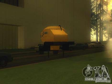 Reboque Mukovoz K4-AMG para GTA San Andreas vista direita