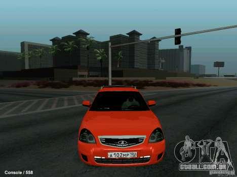 LADA 2170 102-RUS para GTA San Andreas vista interior