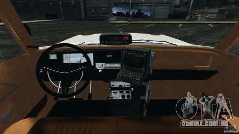 Dodge Monaco 1974 Police v1.0 [ELS] para GTA 4 vista de volta