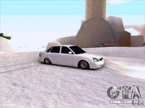 Lada Priora para GTA San Andreas vista interior