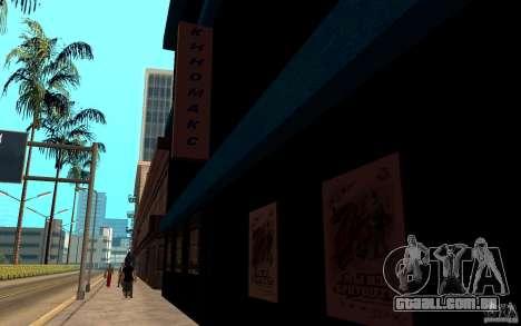Kinomaks de cinema. para GTA San Andreas segunda tela