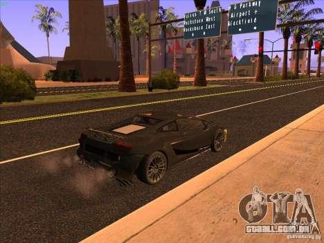 Lamborghini Gallardo Underground Racing para GTA San Andreas traseira esquerda vista