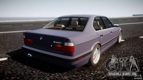 BMW 5 Series E34 540i 1994 v3.0 para GTA 4 vista superior