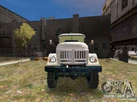 ZIL 131 para GTA 4 vista superior