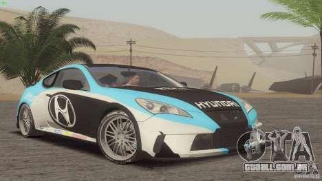 Hyundai Genesis Tunable para GTA San Andreas vista traseira
