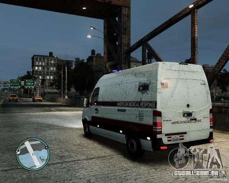 Mercedes Benz Sprinter American Medical Response para GTA 4 esquerda vista
