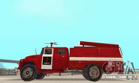 ZIL-130 fogo para GTA San Andreas esquerda vista