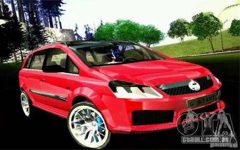 G1 MPV para GTA San Andreas traseira esquerda vista