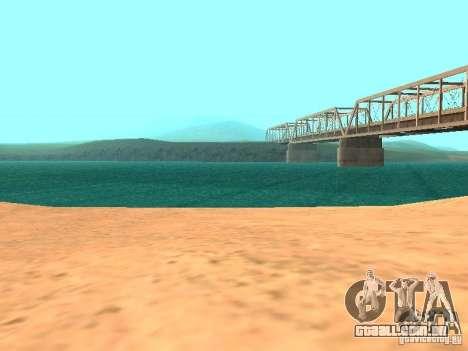 A água de padrão para GTA San Andreas sexta tela