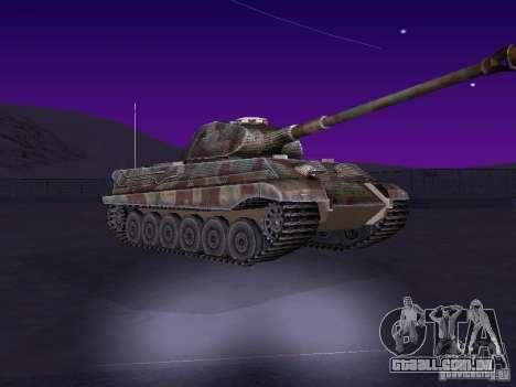 Pzkpfw VII Tiger II para GTA San Andreas esquerda vista