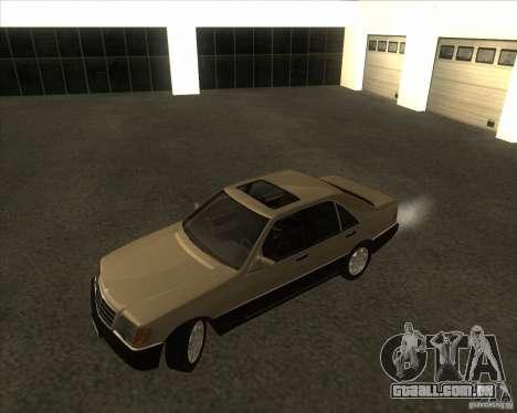 Mercedes Benz 400 SE W140 (Wheels style 2) para GTA San Andreas esquerda vista