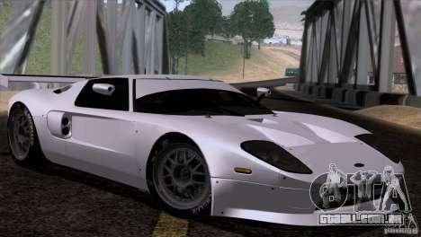 Ford GT Matech GT3 Series para GTA San Andreas vista direita