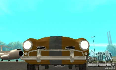 Volkswagen Karmann Ghia para GTA San Andreas vista interior