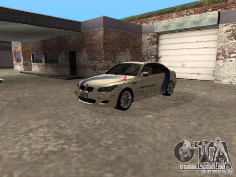 BMW M5 E60 2009 v2 para GTA San Andreas vista traseira