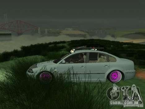 VW Passat B5 Dope para GTA San Andreas esquerda vista